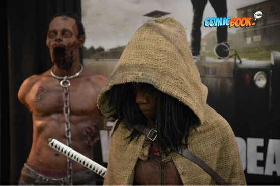 Toy Fair Walking Dead Michonne Display Closeup