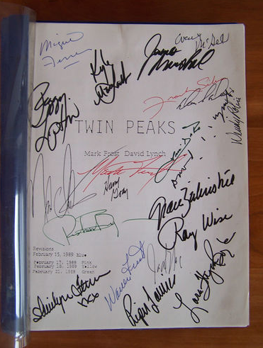 Twin Peaks Pilot Script Signed By 21 Contributors For Sale Online