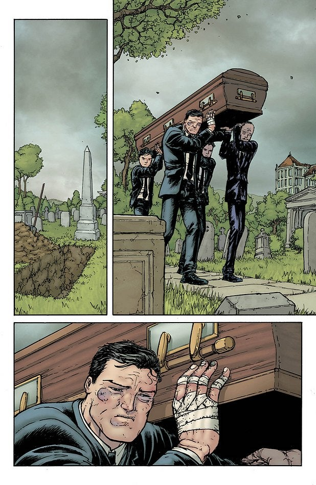 Robin's Funeral In Batman Incorporated #9 Preview