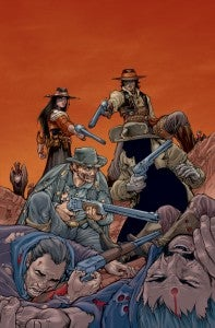 Jonah Hex and Booster Gold in ALL-STAR WESTERN #20