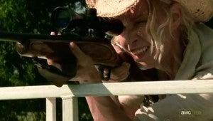 Andrea shoots Daryl