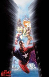 Alex Ross's promo art for DC Comics's Astro City