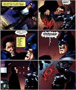 Hitman throws up on Batman.