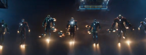 Iron Man 3 trailer Iron Army screengrab