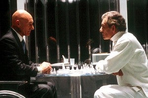 Professor X and Magneto playing chess in X-Men