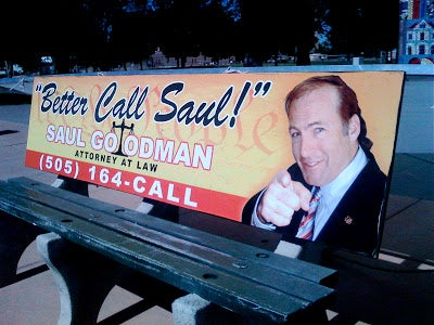 Better Call Saul bench ad