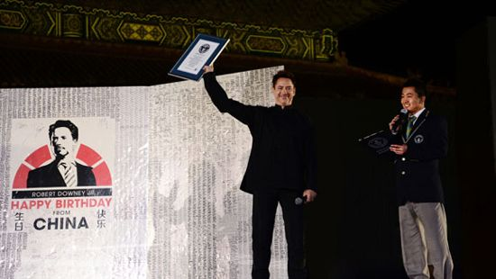 Robert Downey Jr. World Record Iron Man 3