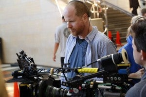 Joss Whedon on the set of Agents of SHIELD