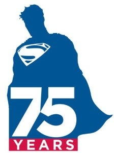 Superman at 75 logo