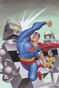 Superman Unchained variant by Bruce Timm