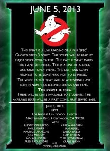 Ghostbusters III reading poster