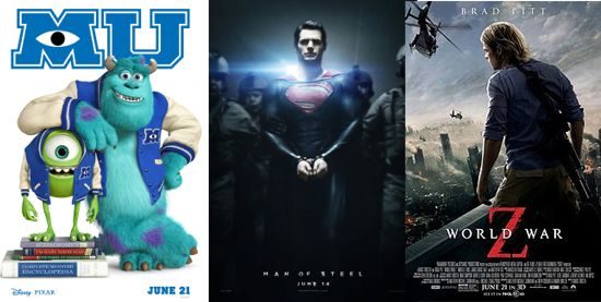 monsters-university-man-of-steel-world-war-z