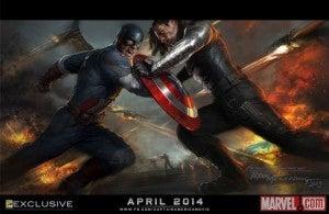 Captain America The Winter Solider Comic-Con Exclusive Poster