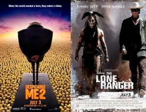 Box Office, Despicable Me & Lone Ranger