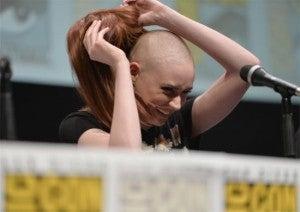 Karen Gillan goes bald