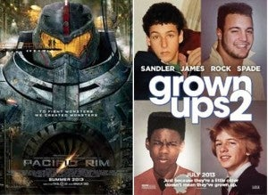 Pacific Rim & Grown Ups 2 Box Office