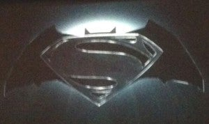 Superman and Batman movie logo