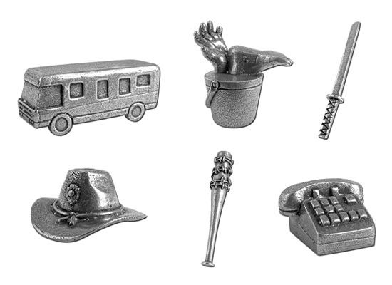 Walking Dead Monopoly Pieces
