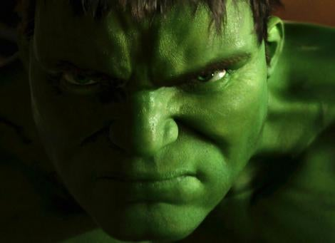 The Hulk as played by Eric Bana.