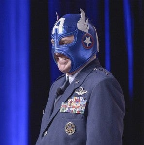 Air Force Cheif of Staff as Captain America