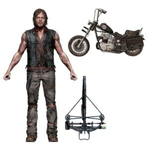 Daryl Dixon action figure and motorcycle