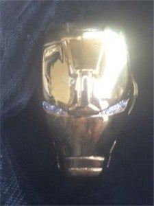 Gold and Diamon Iron Man head