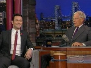 Josepht Gordon-Levitt and David Letterman Talk Batman