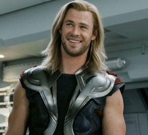 Thor laughing