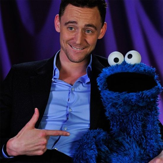 Tom Hiddleston & Cookie Monster