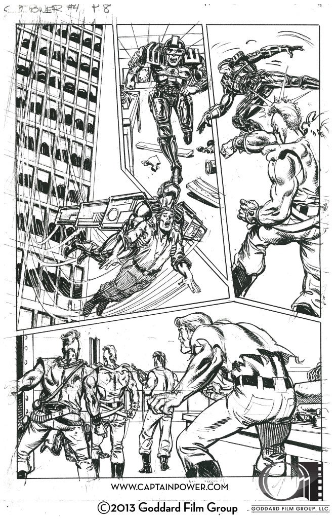 A page from the unpublished fourth issue of the series