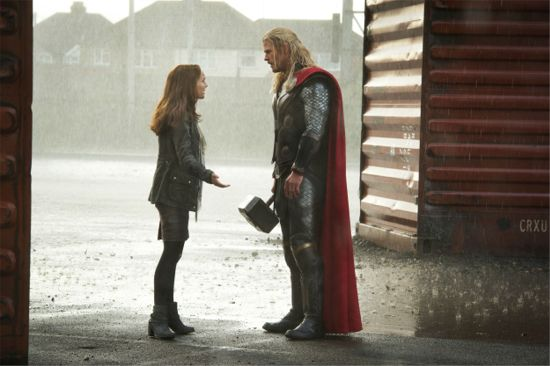 Jane slaps Thor