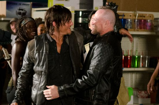 Walking Dead Season 4 Michael Rooker & Norman Reedus
