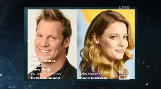 Talking Dead Chris Jericho & Gillian Jacobs