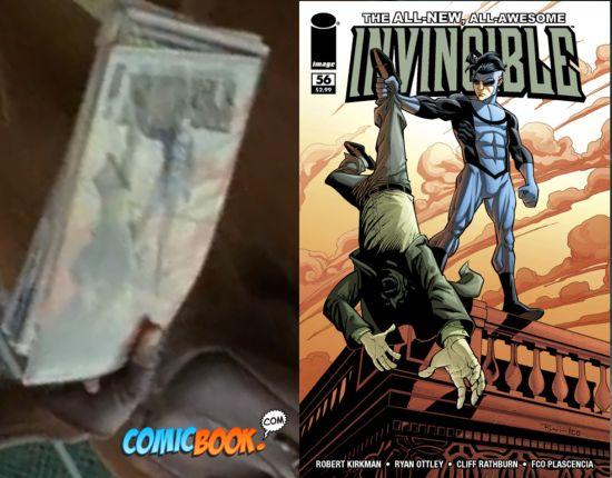 The Walking Dead Carl's Comic Book Invincible