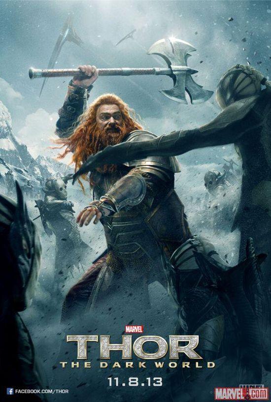 Thor The Dark World Poster Featuring Volstagg