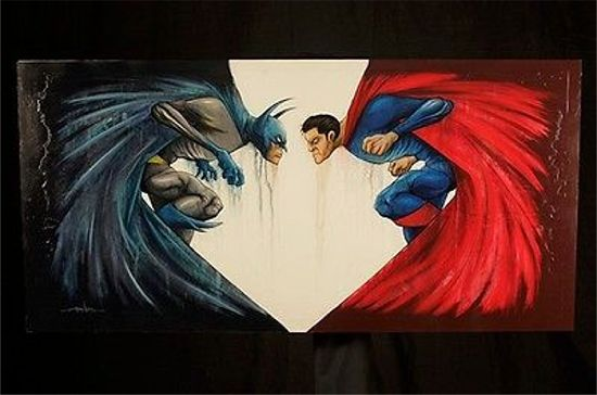 Batman Vs. Superman Concept Art