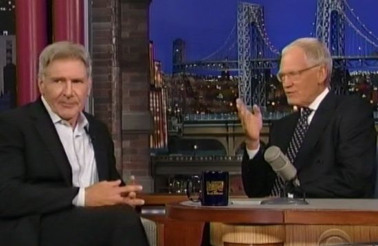 Harrison Ford & David Letterman