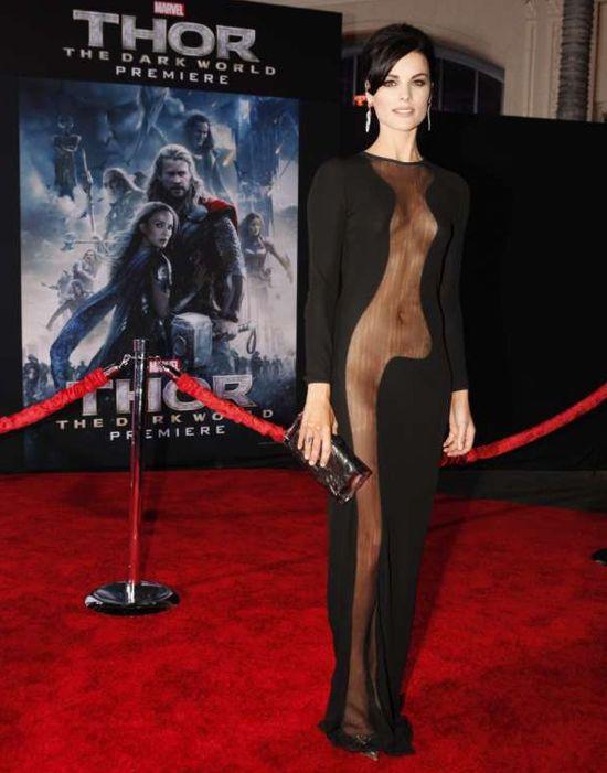 Jaimie Alexander Revealing Dress Thor: The Dark World Premiere