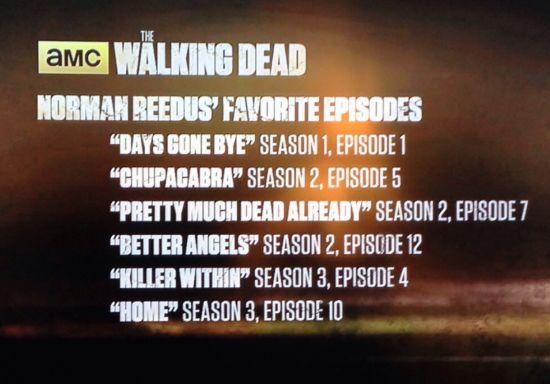 Norman Reedus Favorite Walking Dead Episodes
