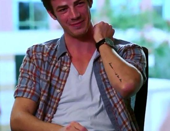 Grant Gustin Superman I Love Him Tattoo