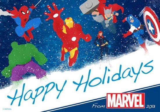 Happy Holidays Marvel