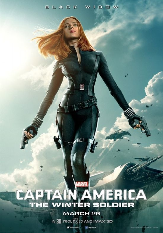 Captain America The Winter Soldier Black Widow