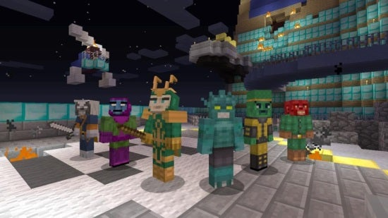 Minecraft On Xbox 360 Gets Avengers Skin Pack Dlc