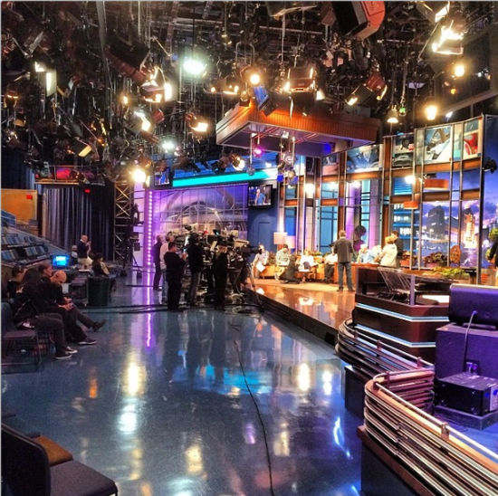 Kevin Smith Tonight Show Set
