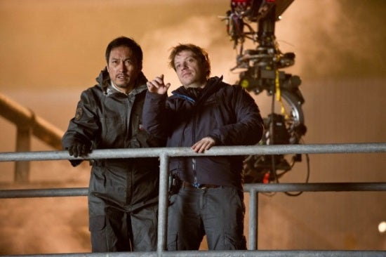 Godzilla Ken Watanabe and Gareth Edwards