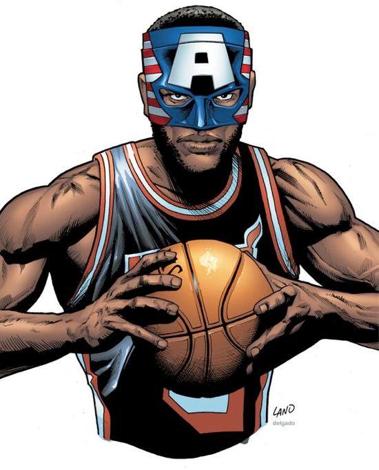 LeBron James Captain America Mask