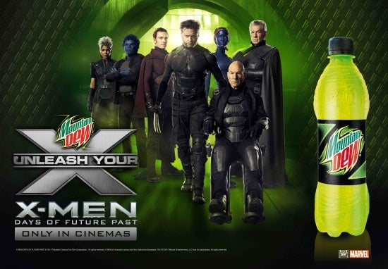 X-Men Days of Future Past and Mountain Dew
