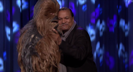 billy dee williams dances with chewbacca