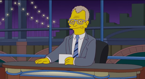 The Simpsons Honor David Letterman With Couch Gag
