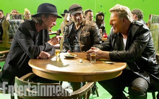 Frank Miller, Robert Rodriguez, and Mickey Rourke.